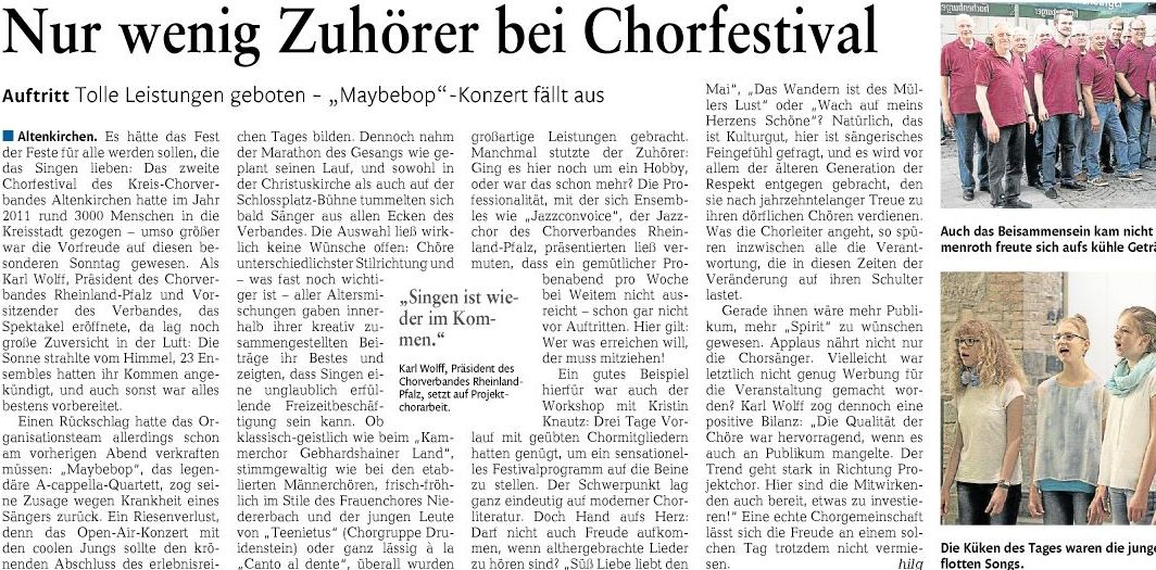 mit freundlicher Genehmigung der Rhein-Zeitung, Ausgabe Altenkirchen-Betzdorf vom 06.06.2016, Seite 21